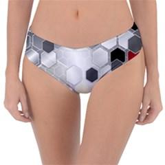 Honeycomb Pattern Reversible Classic Bikini Bottoms