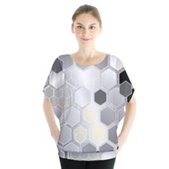 Honeycomb Pattern Blouse