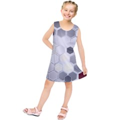 Honeycomb Pattern Kids  Tunic Dress