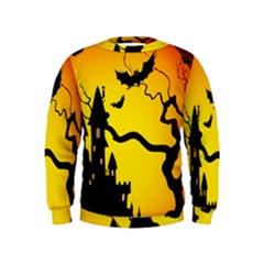 Halloween Night Terrors Kids  Sweatshirt by BangZart