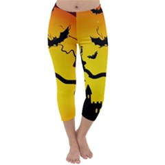 Halloween Night Terrors Capri Winter Leggings