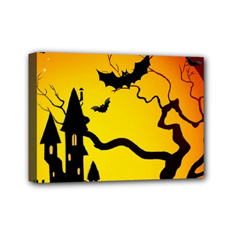 Halloween Night Terrors Mini Canvas 7  X 5