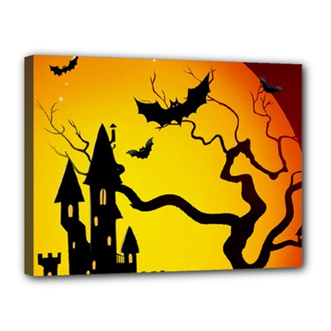 Halloween Night Terrors Canvas 16  X 12  by BangZart