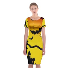 Halloween Night Terrors Classic Short Sleeve Midi Dress