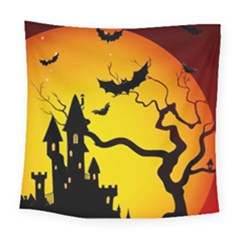 Halloween Night Terrors Square Tapestry (large)