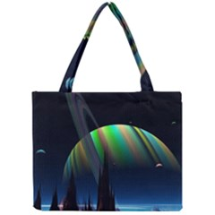 Planets In Space Stars Mini Tote Bag