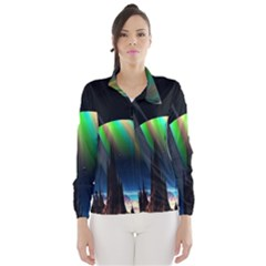 Planets In Space Stars Wind Breaker (women)