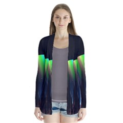 Planets In Space Stars Drape Collar Cardigan