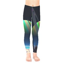 Planets In Space Stars Kids  Legging by BangZart