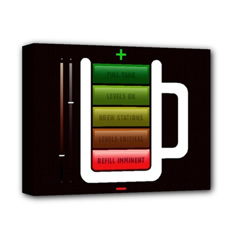 Black Energy Battery Life Deluxe Canvas 14  X 11  by BangZart