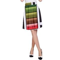 Black Energy Battery Life A Line Skirt