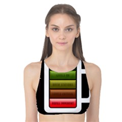 Black Energy Battery Life Tank Bikini Top