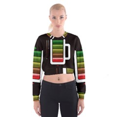 Black Energy Battery Life Cropped Sweatshirt