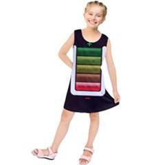 Black Energy Battery Life Kids  Tunic Dress