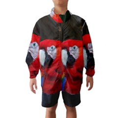 Scarlet Macaw Bird Wind Breaker (kids)