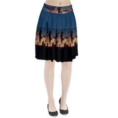 Art Sunset Anime Afternoon Pleated Skirt by BangZart
