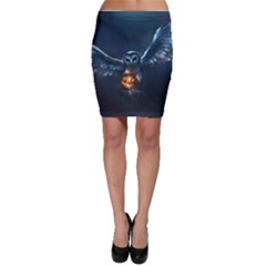 Owl And Fire Ball Bodycon Skirt by BangZart
