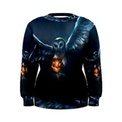 Owl And Fire Ball Women s Sweatshirt