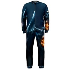 Owl And Fire Ball Onepiece Jumpsuit (men)