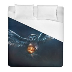 Owl And Fire Ball Duvet Cover (full/ Double Size)