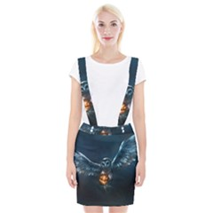 Owl And Fire Ball Braces Suspender Skirt