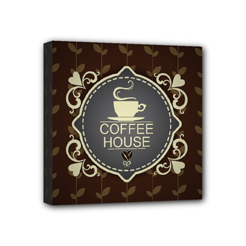 Coffee House Mini Canvas 4  X 4
