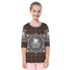 Coffee House Kids  Quarter Sleeve Raglan Tee