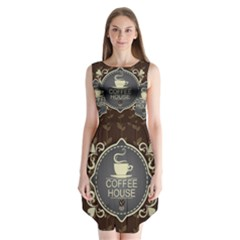 Coffee House Sleeveless Chiffon Dress