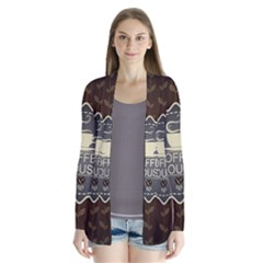 Coffee House Drape Collar Cardigan by BangZart