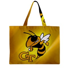 Georgia Institute Of Technology Ga Tech Medium Zipper Tote Bag