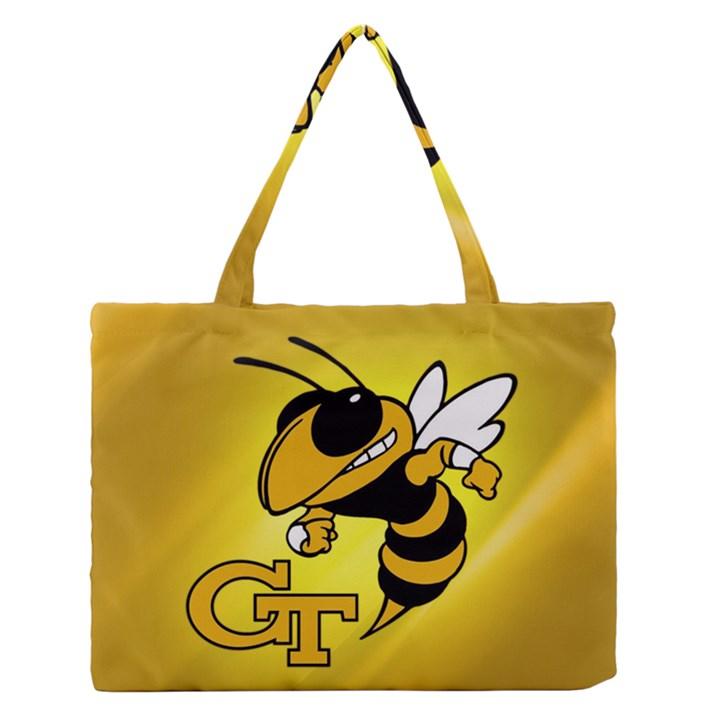 Georgia Institute Of Technology Ga Tech Medium Zipper Tote Bag
