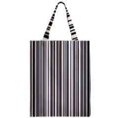 Barcode Pattern Zipper Classic Tote Bag