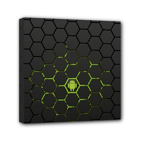 Green Android Honeycomb Gree Mini Canvas 6  X 6