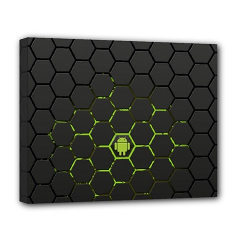 Green Android Honeycomb Gree Deluxe Canvas 20  X 16   by BangZart