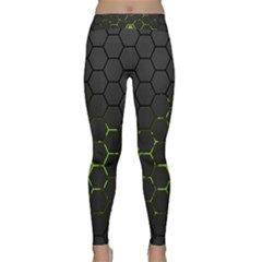 Green Android Honeycomb Gree Classic Yoga Leggings by BangZart