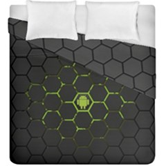 Green Android Honeycomb Gree Duvet Cover Double Side (king Size) by BangZart