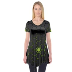 Green Android Honeycomb Gree Short Sleeve Tunic
