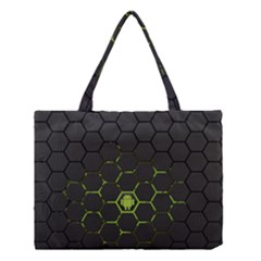 Green Android Honeycomb Gree Medium Tote Bag