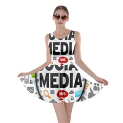Social Media Computer Internet Typography Text Poster Skater Dress
