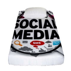 Social Media Computer Internet Typography Text Poster Fitted Sheet (single Size)