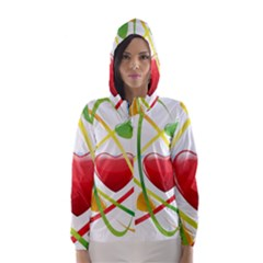 Love Hooded Wind Breaker (women) by BangZart