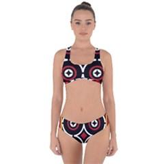 Toraja Pattern Ne limbongan Criss Cross Bikini Set