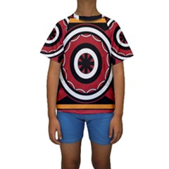 Toraja Pattern Pa barre Allo Kids  Short Sleeve Swimwear