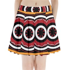 Toraja Pattern Pa barre Allo Pleated Mini Skirt by BangZart