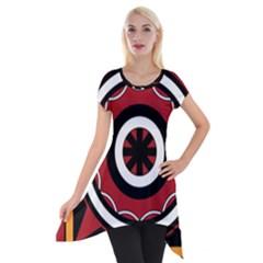 Toraja Pattern Pa barre Allo Short Sleeve Side Drop Tunic