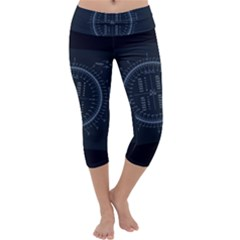 Minimalistic Knowledge Mathematics Trigonometry Capri Yoga Leggings