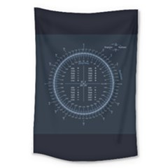 Minimalistic Knowledge Mathematics Trigonometry Large Tapestry