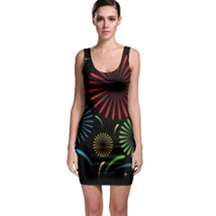 Fireworks With Star Vector Bodycon Dress
