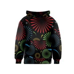 Fireworks With Star Vector Kids  Pullover Hoodie