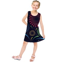 Fireworks With Star Vector Kids  Tunic Dress